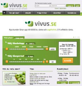 Vivus webbsida